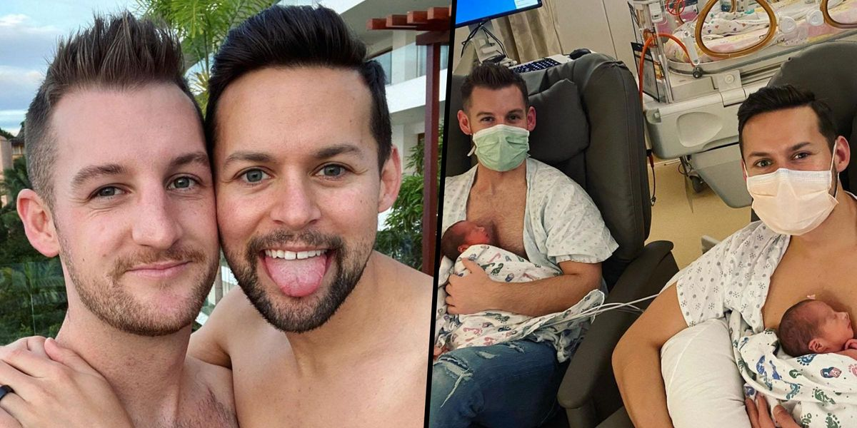 Gay Couple Who Fell in Love After Both Trying To 'Pray Away the Gay' Welcome Triplets
