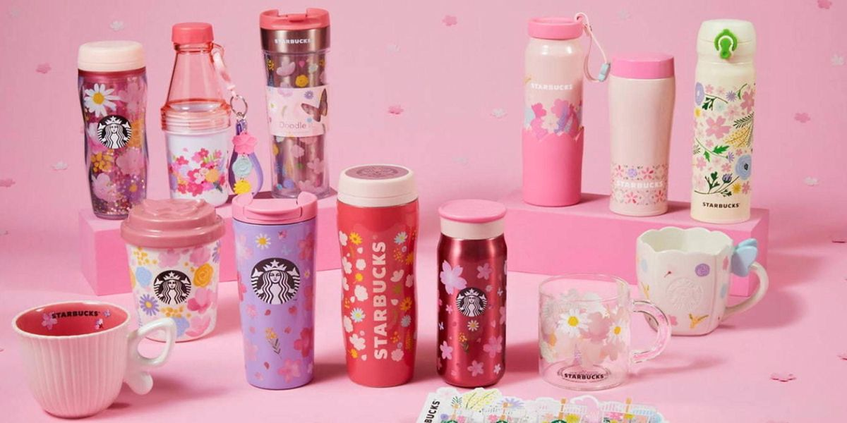 Starbucks Is Dropping a New Cherry Blossom Drinkware Collection and It's Everything
