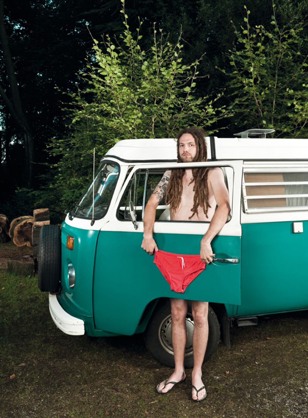 This Calendar of Guys in Funny Underwear Next To Classic Cars Is All The Rage In Germany