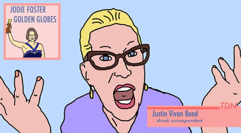 Watch Justin Vivian Bond Deliver The News, Drunk