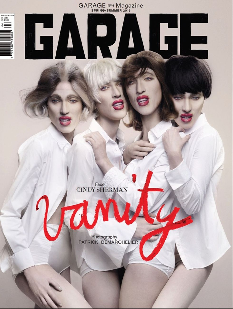 Four Cindy Shermans on a Fashion Mag Cover