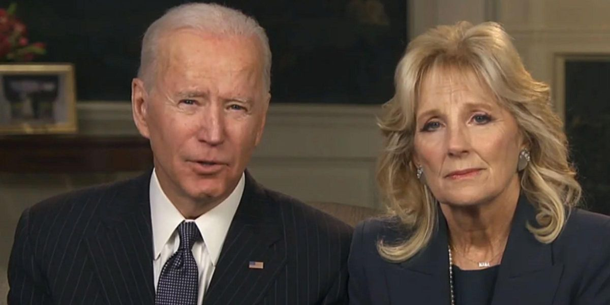 The Bidens Hold a Moment of Silence for COVID Victims Before the Super Bowl
