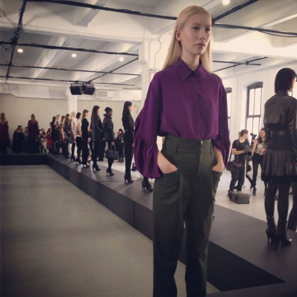 Luigi Tadini's Fashion Week Insta-Moment: Catherine Malandrino