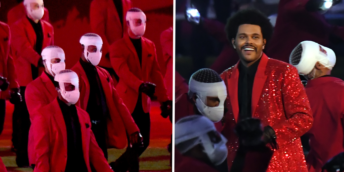 Real Reason The Weeknd's Dancers Wore Bandages During Super Bowl Performance