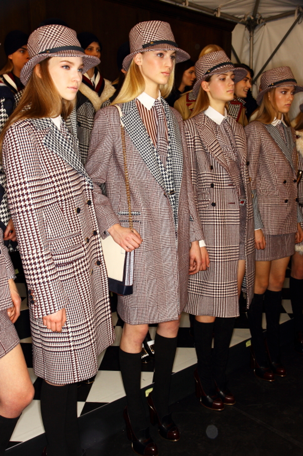 Take Ivy: Backstage Photos from Tommy Hilfiger's Ivy League-Meets-Savile Row Show