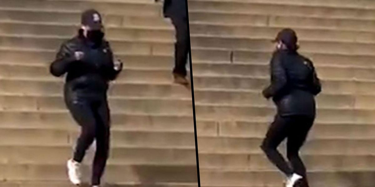 VP Kamala Harris Runs Stairs at Lincoln Memorial Like Rocky