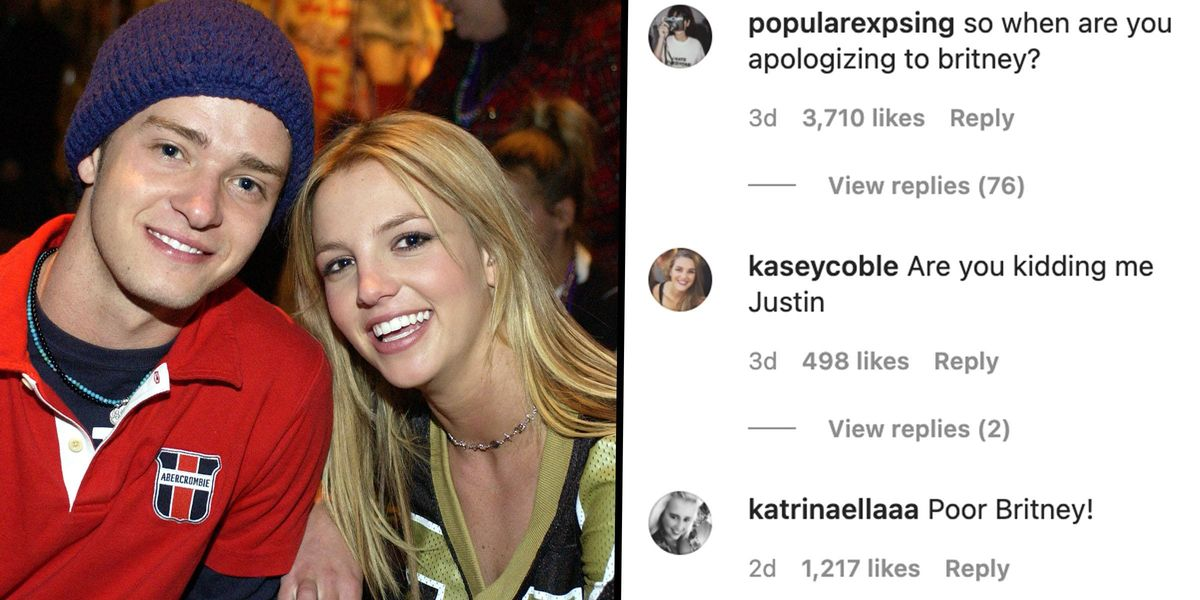 Justin Timberlake's Instagram Flooded With Demands for Him To Apologize To Britney Spears