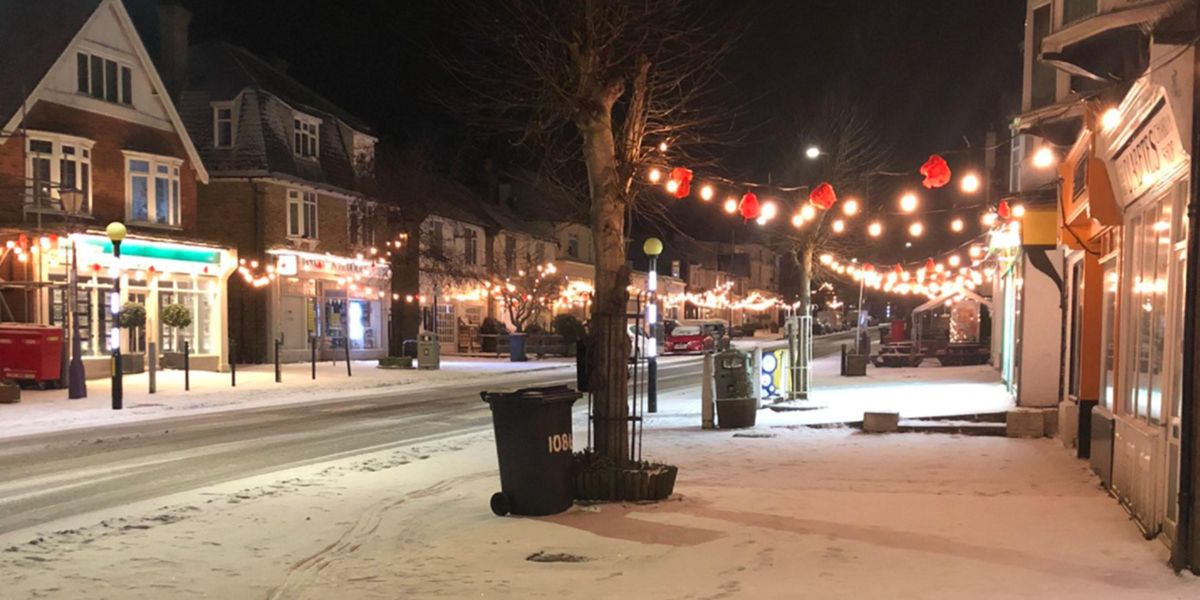 Town Switches Christmas Lights on in February To Lift Spirits Amid Pandemic