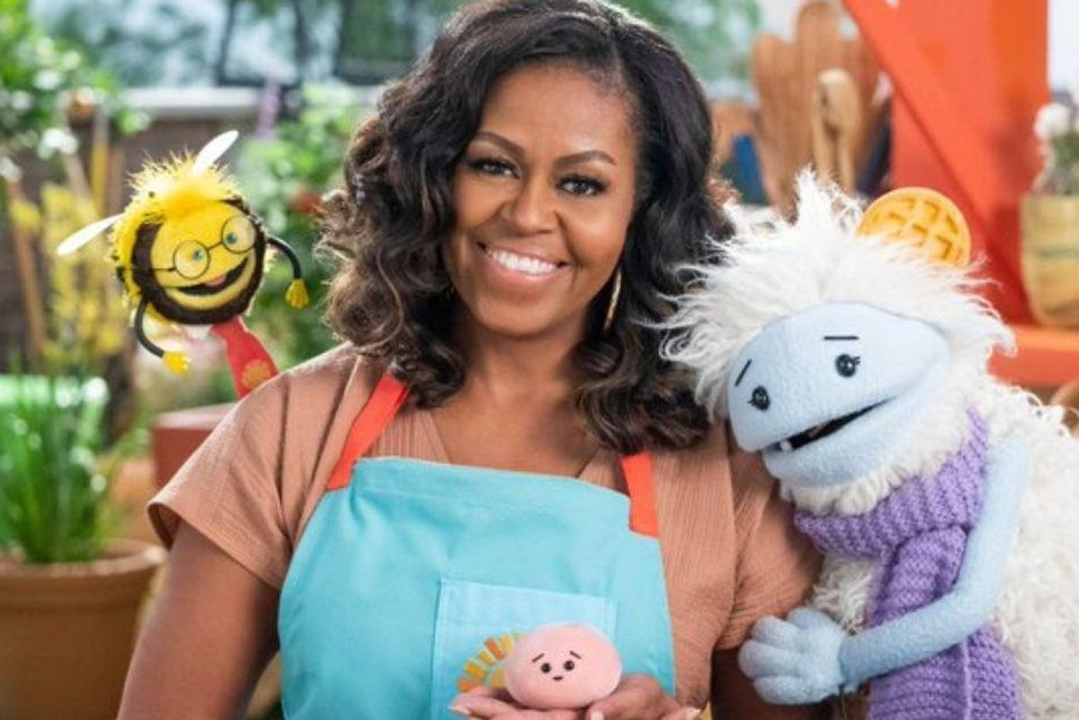 Michelle Obama is continuing her mission with a Netflix children's show, 'Waffles + Mochi'