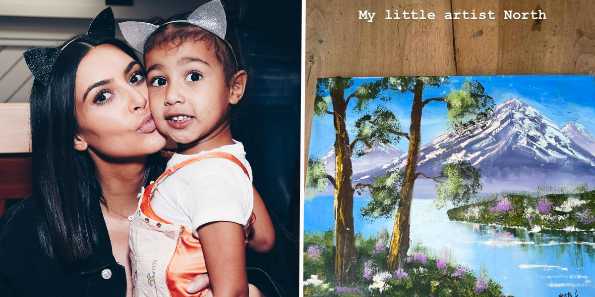 Kim Kardashian Hits Back at People Accusing Her Of Lying About North West's Painting