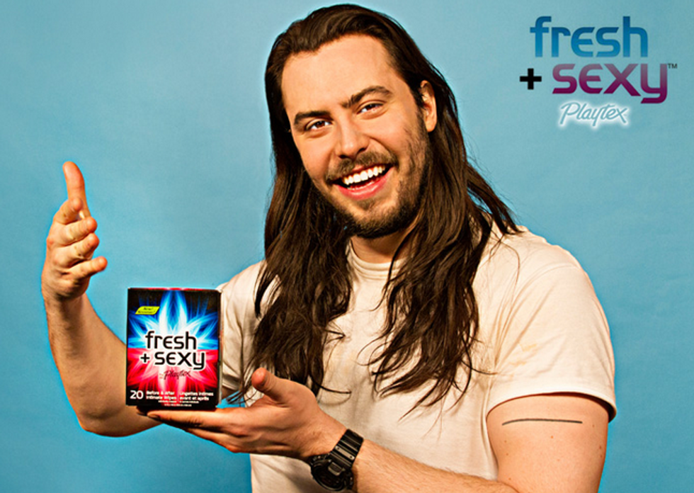 Andrew W.K. Is the New Face of Playtex Sex Wipes