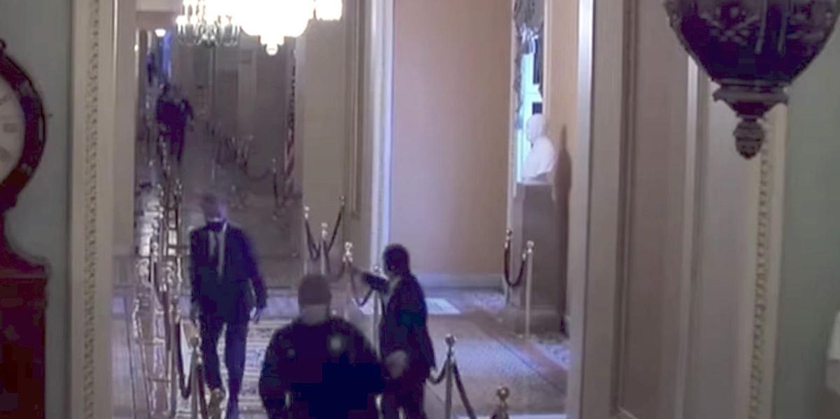 Startling video at impeachment trial shows how close rioters got to Mitt Romney, and how a Capitol officer saved him
