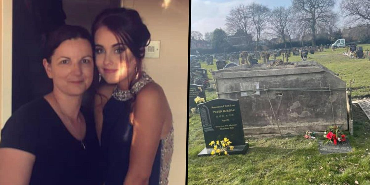 Daughter 'Absolutely Outraged' After Board Put Huge Dumpster on Her Mom's Grave