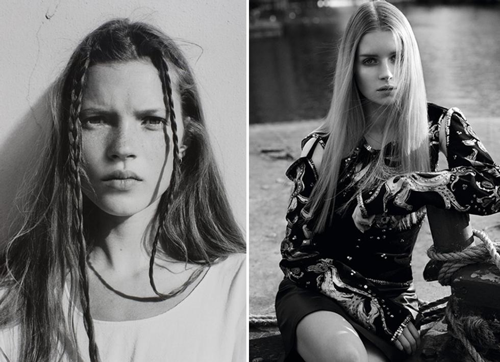 Modeling Debuts: Kate Moss (Then) & Teenage Sister Lottie (Now)