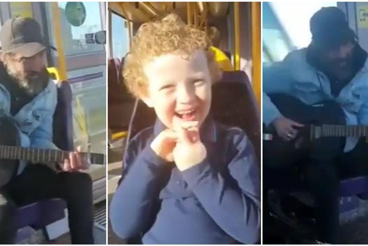 """Irish busker singing 'You've Got a Friend in Me"""" to boy with non-verbal autism is pure beauty"""