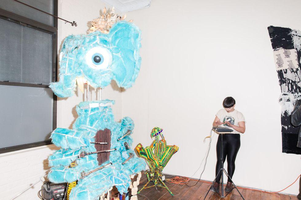 Scenes From a Weekend-Long Art Bash in an Old Bushwick Furniture Factory
