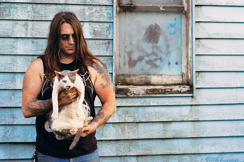 """Metal Cats"" Is Alexandra Crockett's Brutally Sweet Look at Metal Dudes and Their Kitties"