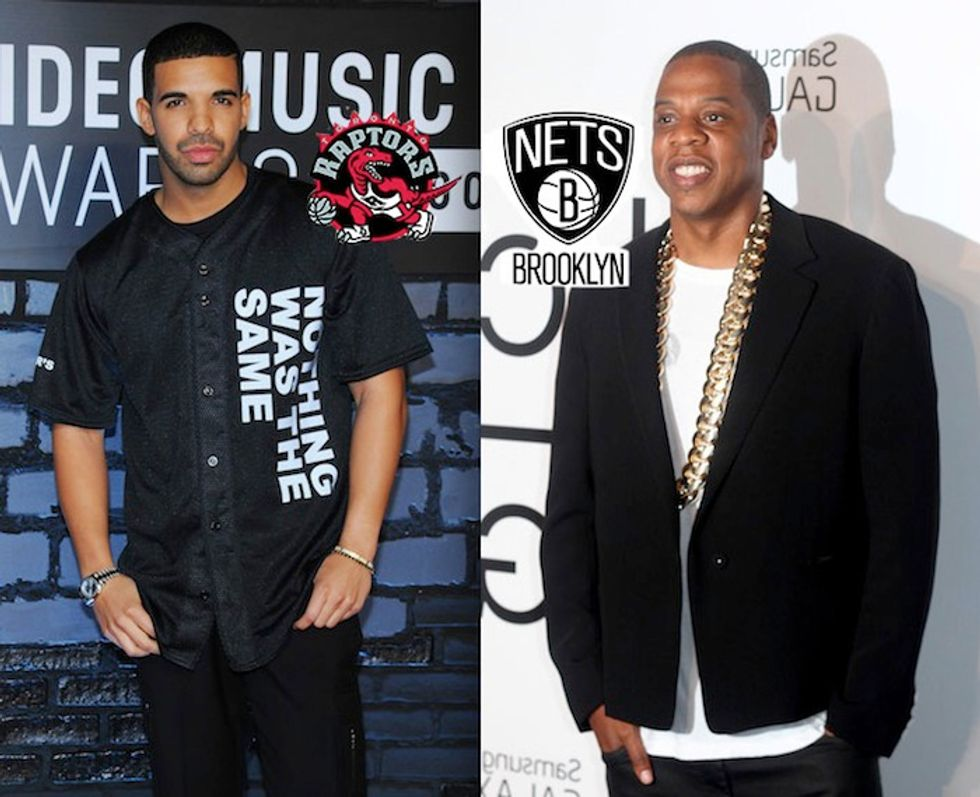 Jay Z, Drake and the Basketball Playoffs