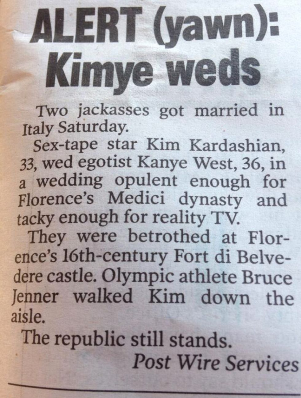 The Best Reactions to Kimye's Marriage