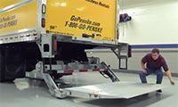 Operating a liftgate on a Penske rental truck