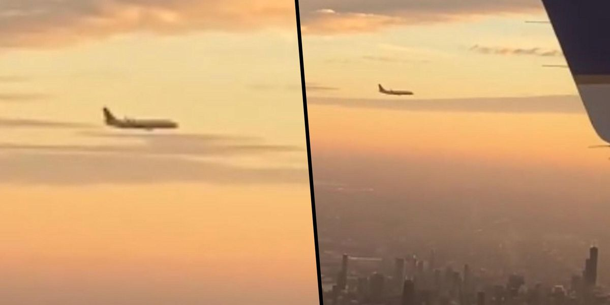 Woman Freaks Out After Seeing Plane 'Just Floating' While on Flight