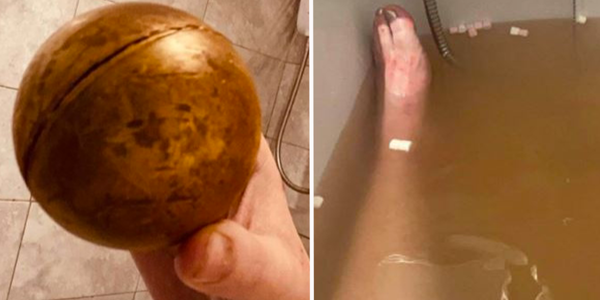 Woman Can't Stop Laughing After Mistaking Hot Chocolate Ball For Bath Bomb