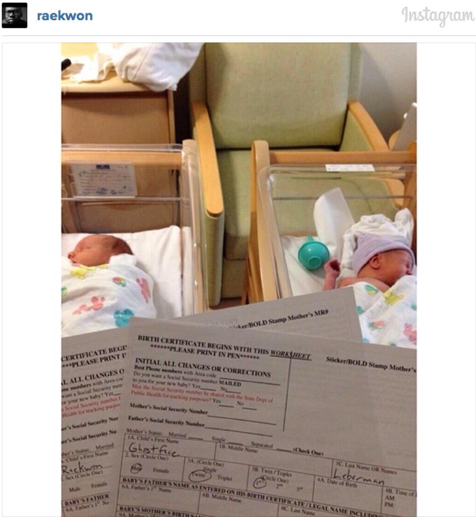 Hey World, Meet Newborns Raekwon and Ghostface Lieberman