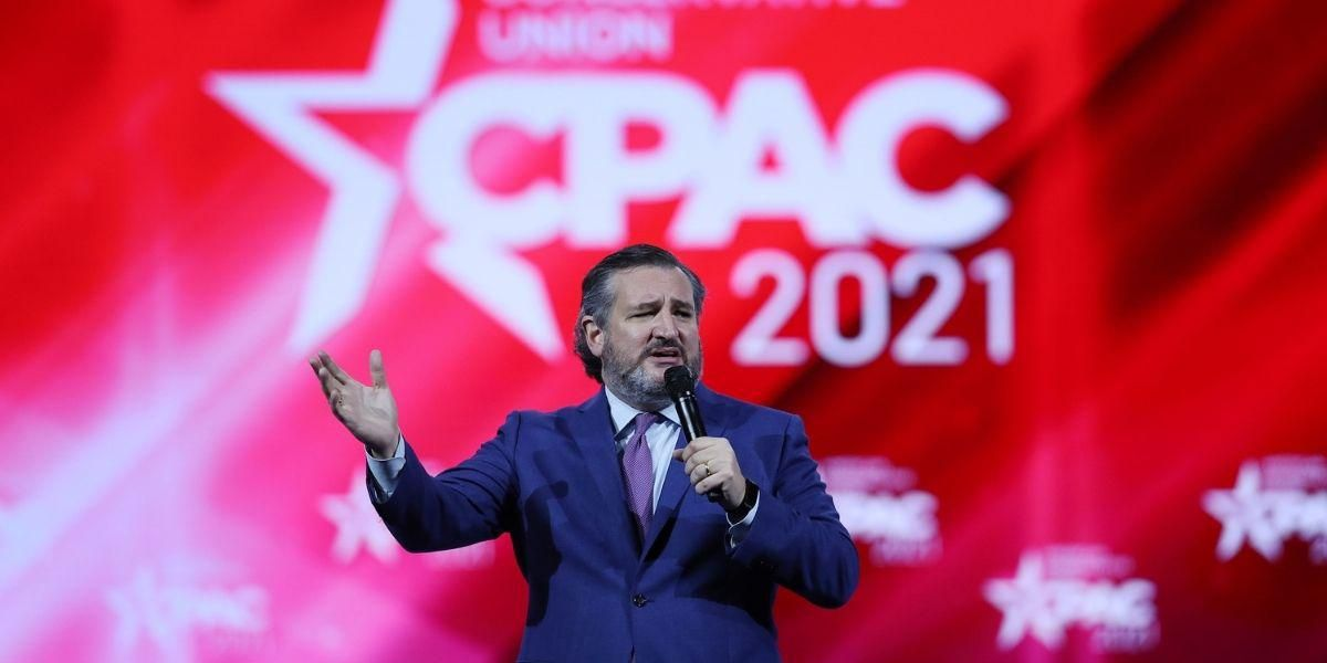 Ted Cruz Slammed For Homophobic Joke About Men 'French Kissing' During Bizarre CPAC Speech