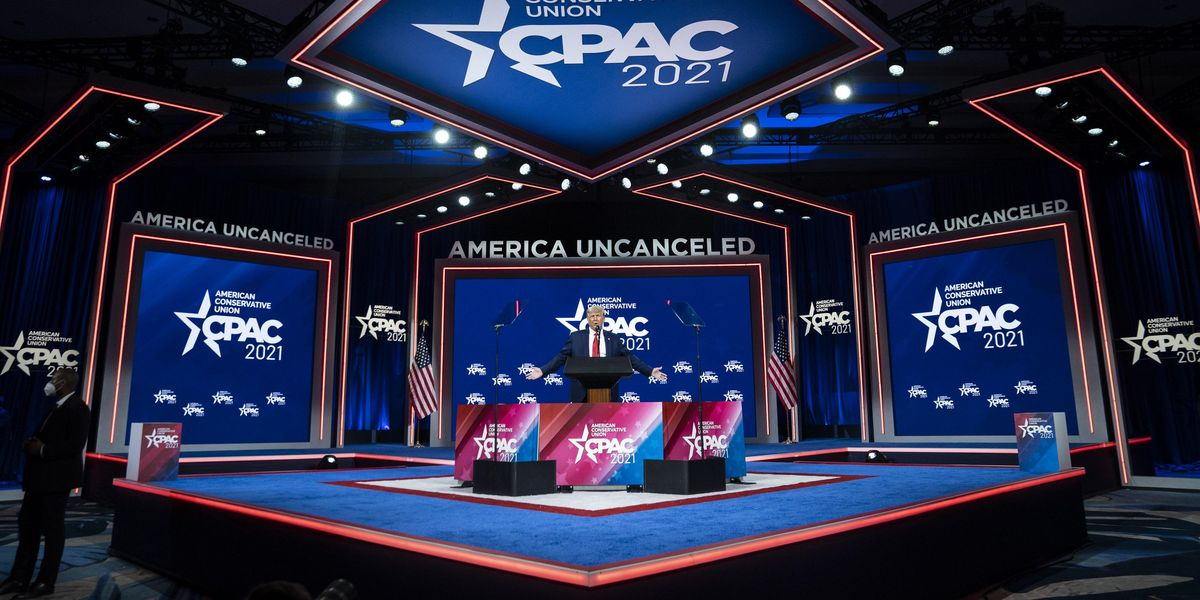 Hyatt Hotels says it is taking seriously criticism about CPAC's stage shape as social media claims 'abhorrent' shape is Nazi hate symbol thumbnail