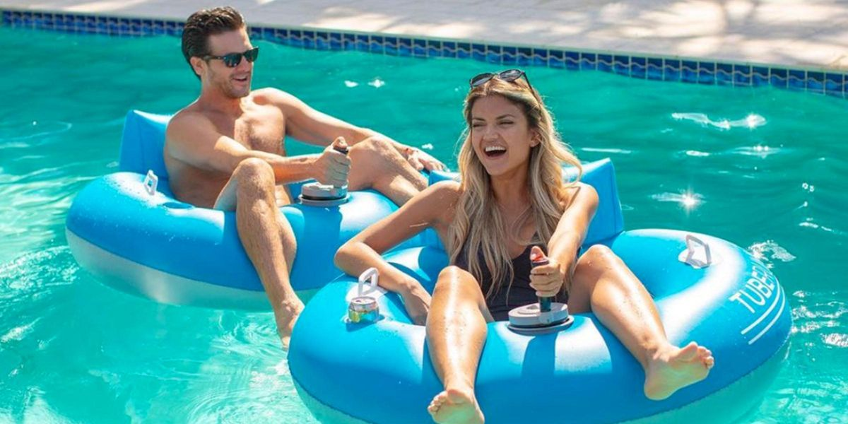 You Can Buy Motorized Pool Tubes So You Can Play Bumper Cars in The Water