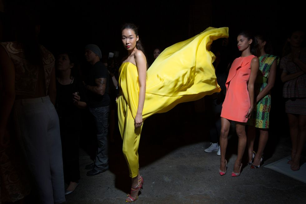 Backstage at Christian Siriano S/S '14