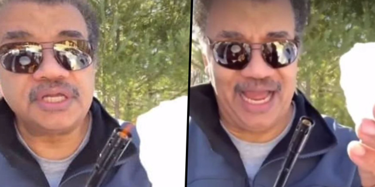 Neil DeGrasse Tyson Shows Why Snow Doesn't Melt When It's Put on a Flame
