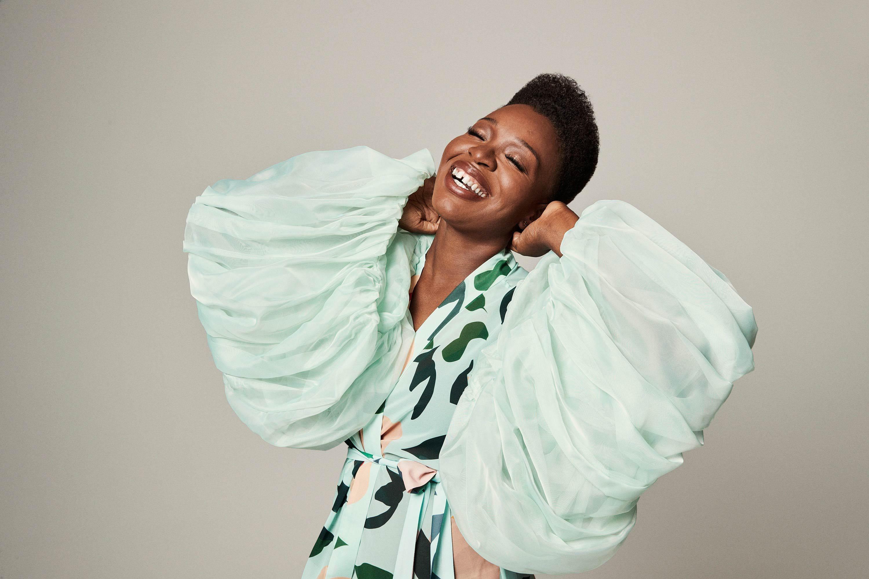\u200bFolake Olowofoyeku flashes her famous grin
