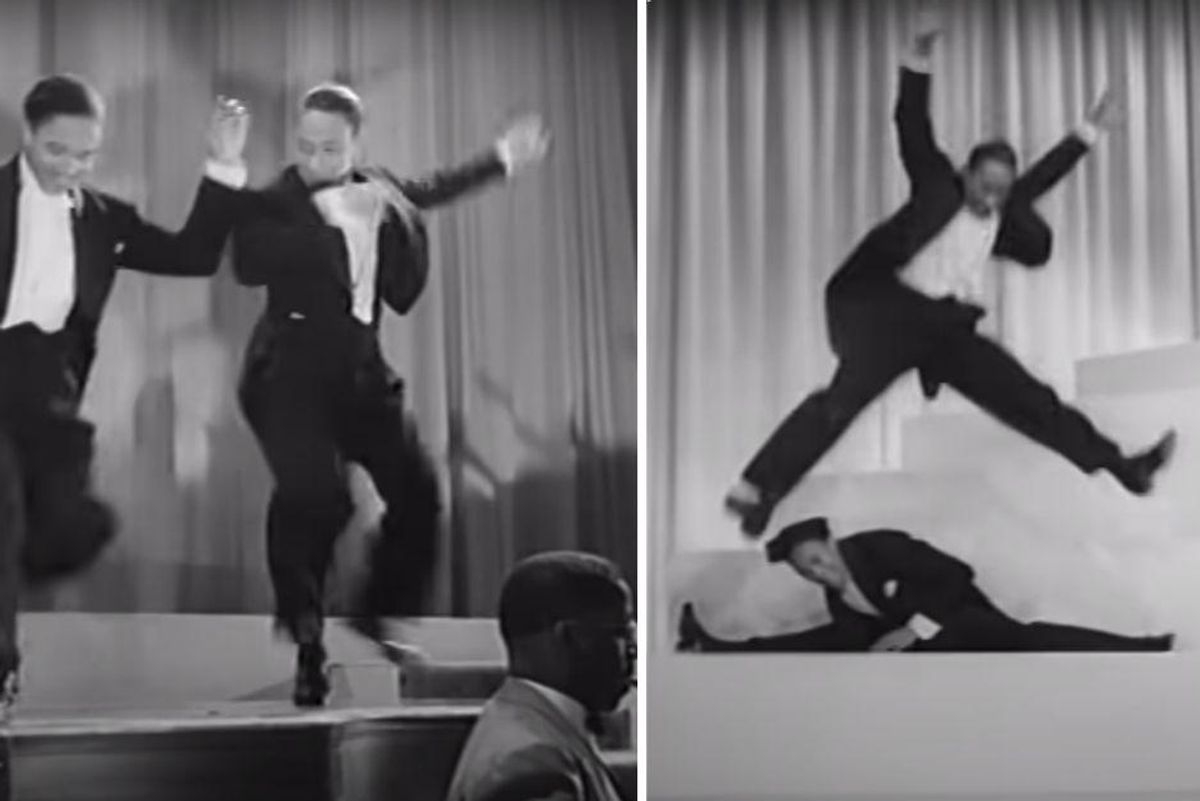This Nicholas Brothers' legendary tap routine was unrehearsed and filmed in a single take