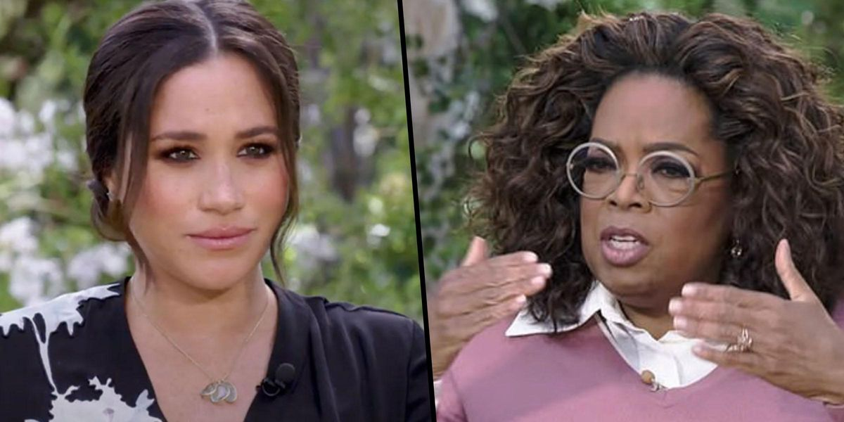Meghan Markle Says the Palace Is 'Perpetuating Falsehoods About Us' in New 'Oprah' Clip