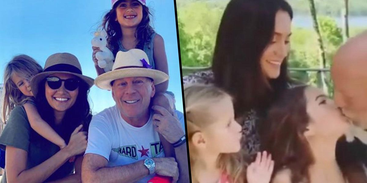 Bruce Willis Blasted by Fans Over Video of Him Kissing His 8-Year-Old Daughter on the Lips