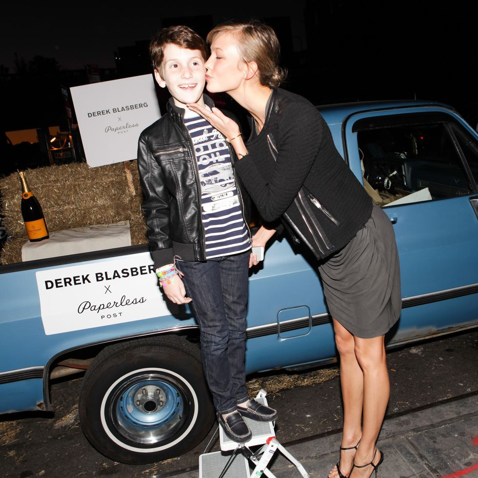 Derek Blasberg Celebrates with Champagne and Hot Wings