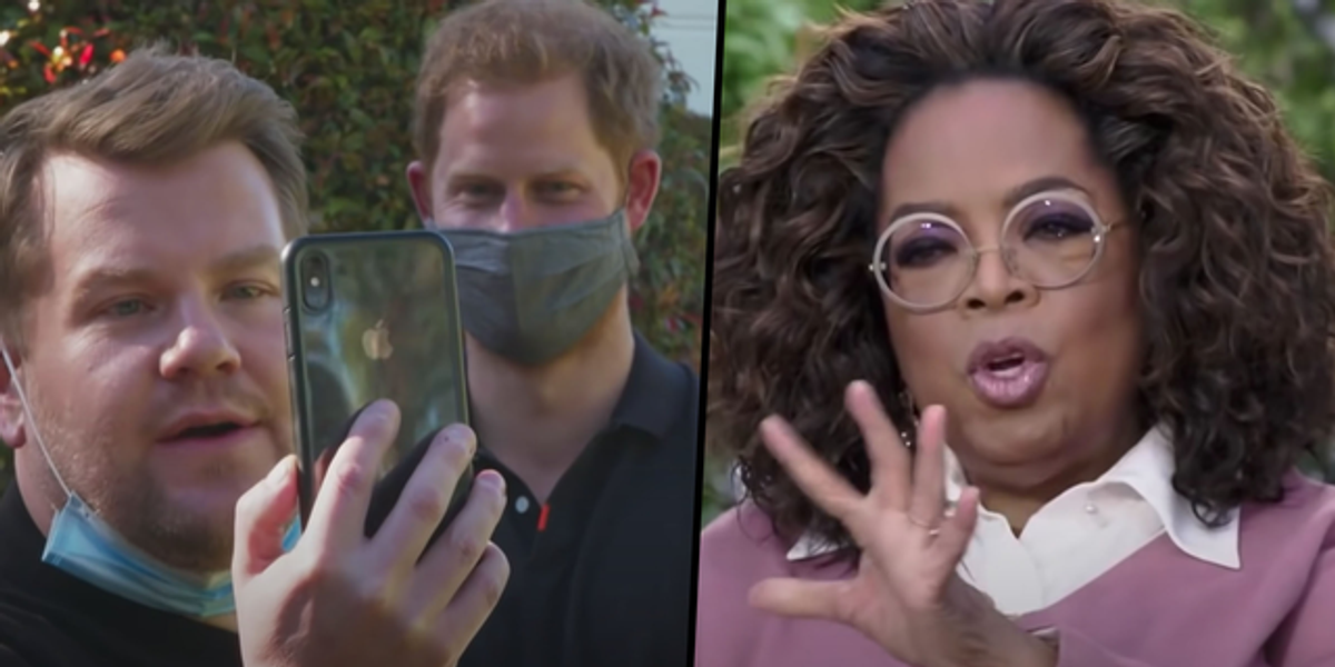 Oprah 'Livid' With Prince Harry's Interview With James Corden as It 'Cost Her Millions'