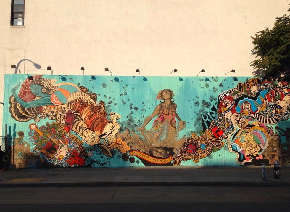 A New Hurricane Sandy-Themed Mural Pops Up on the Bowery/Houston Graffiti Wall