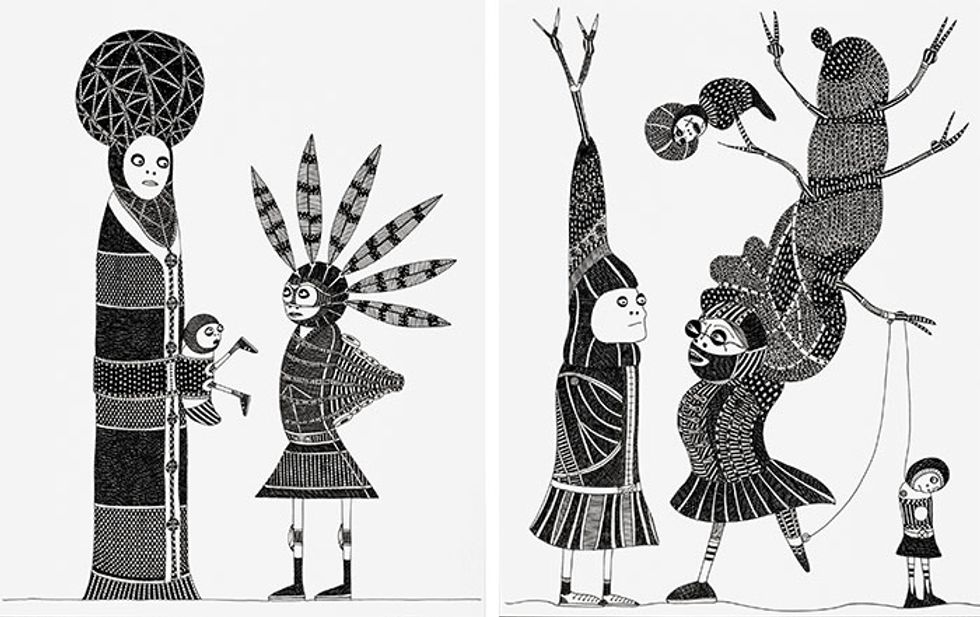 Laylah Ali: The Past, Present and Future, via Saturday Morning Cartoons