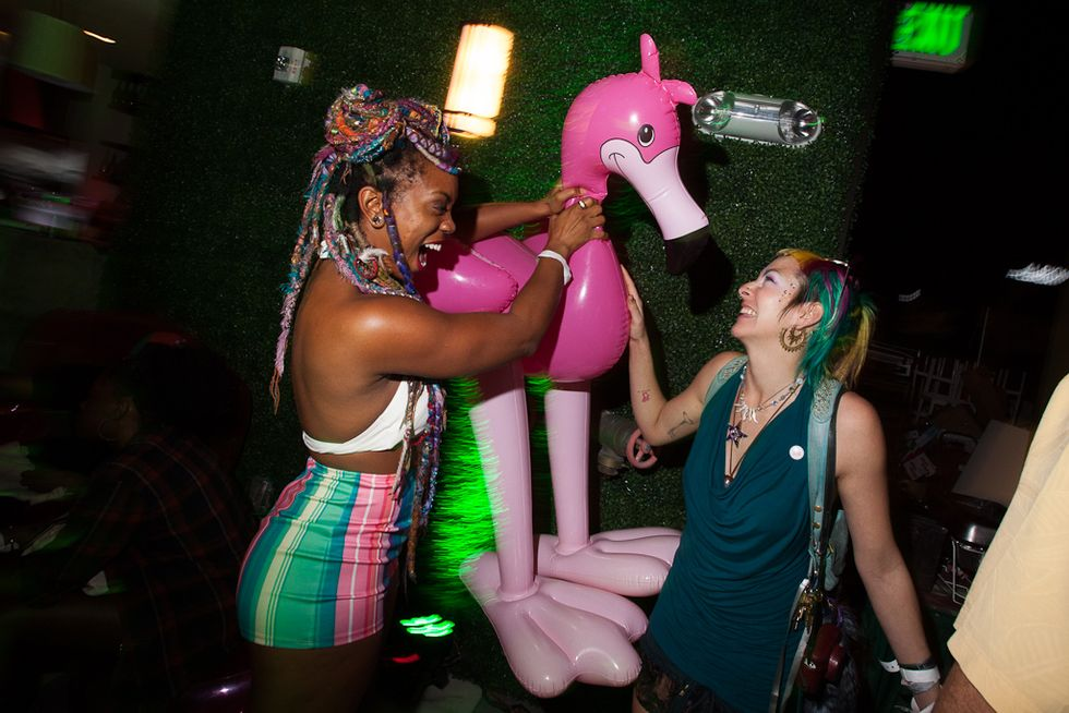 Scenes from Night 1 of Our Art Basel Tiki Disco Party