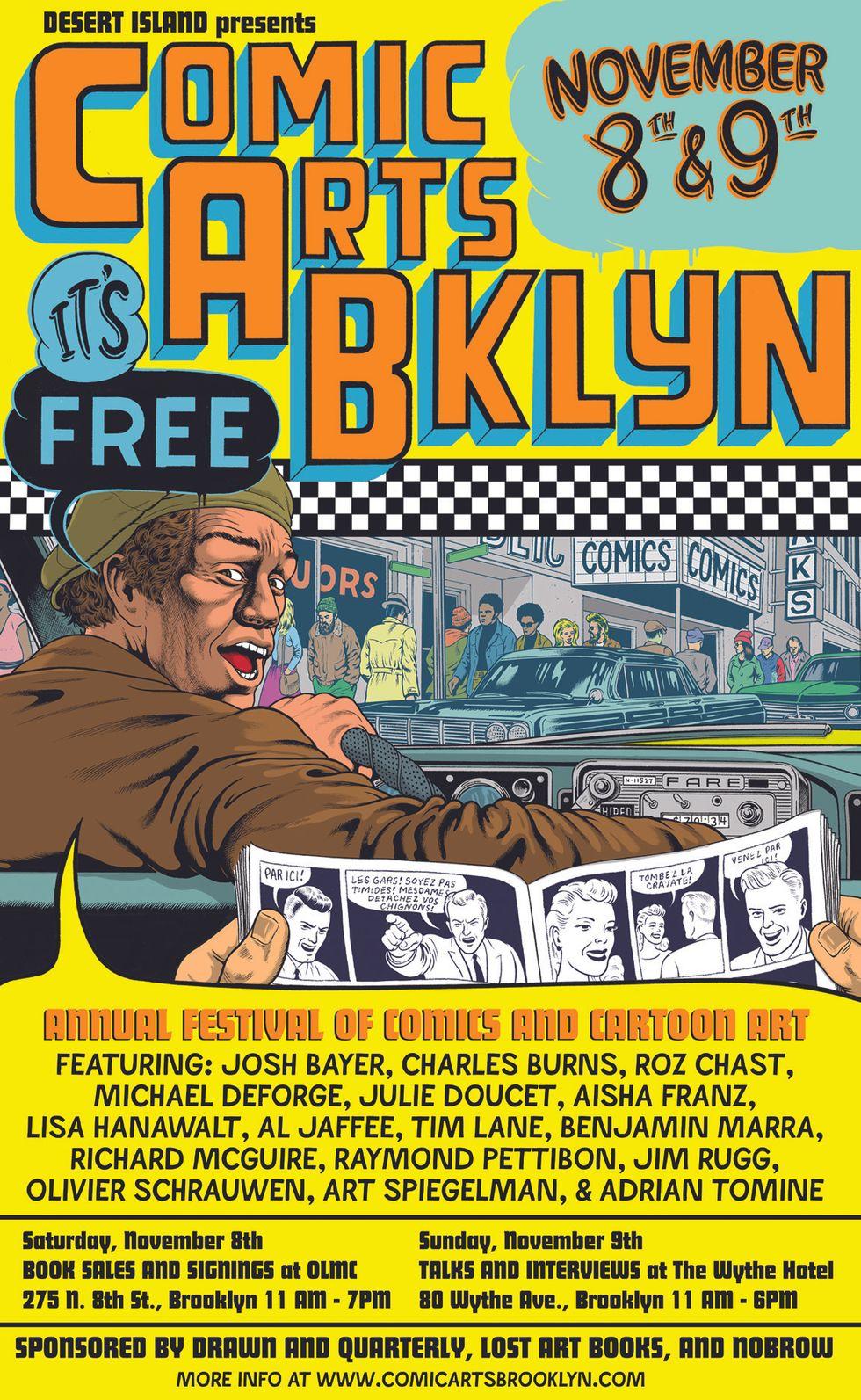 Comic Arts Brooklyn Kicks Off This Weekend With Talks by Raymond Pettibon, Adrian Tomine + More