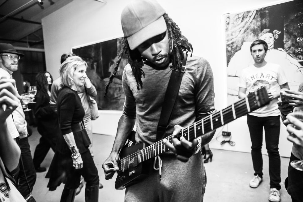 "Inside Dev Hynes' Performance at ""Not For Profit"" Presented by BHQFU and Vito Schnabel"