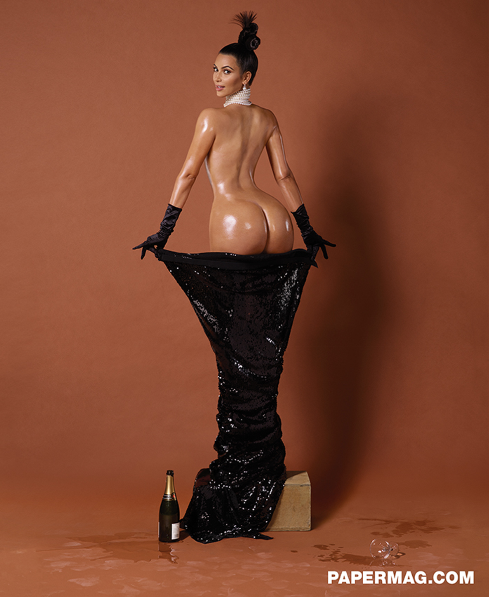 Here's What Kim Kardashian Has to Say About Posing Nude for Our Cover