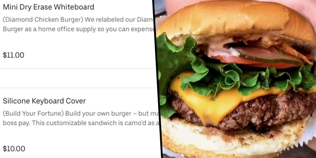 Burger Chain Renames All Its Items After Office Supplies So People Can Claim Expenses