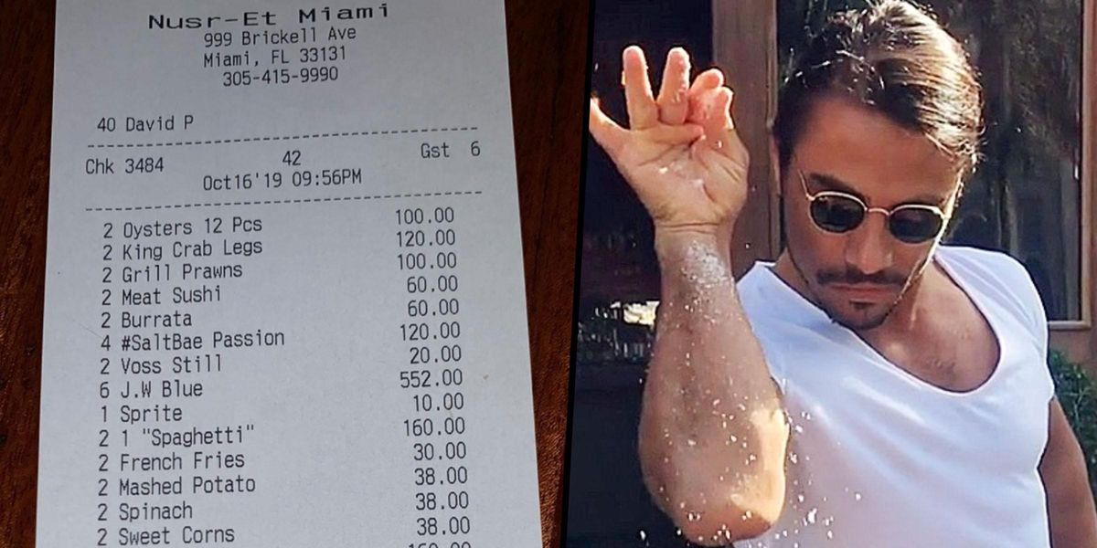 People Are Shocked To Discover How Expensive The Food Is At Salt Bae's Restaurant