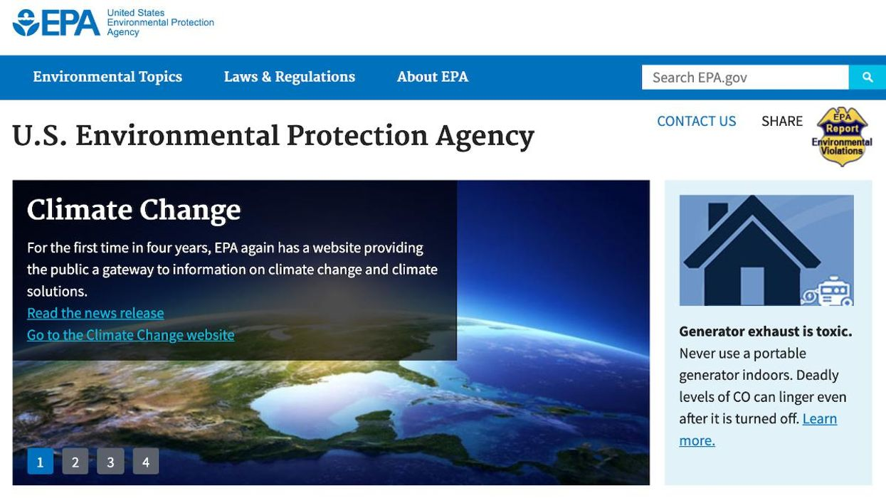 The Words 'Climate' and 'Science' Are Back on EPA Website After Four Dark Years Under Trump