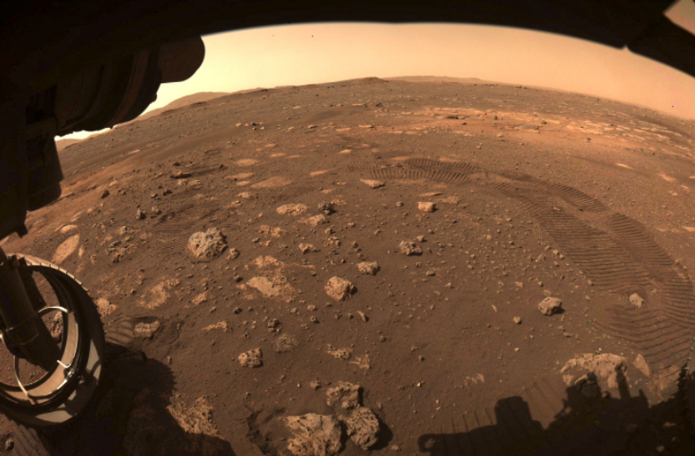 NASA's Perseverance records first-ever sounds of rover driving on Mars