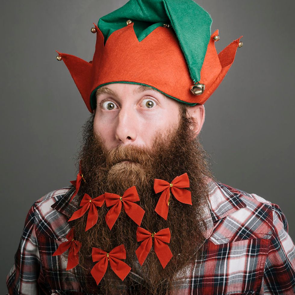 """The 12 Beards of Christmas"" Proves That White Dudes Love Beards Way Too Much"