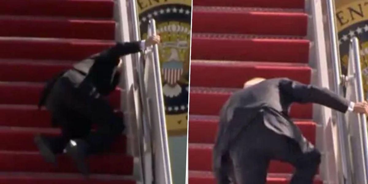 White House Blames Wind for Biden Fall on Air Force One Steps